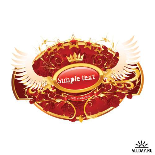 Royal Red Emblems - Vector Stock