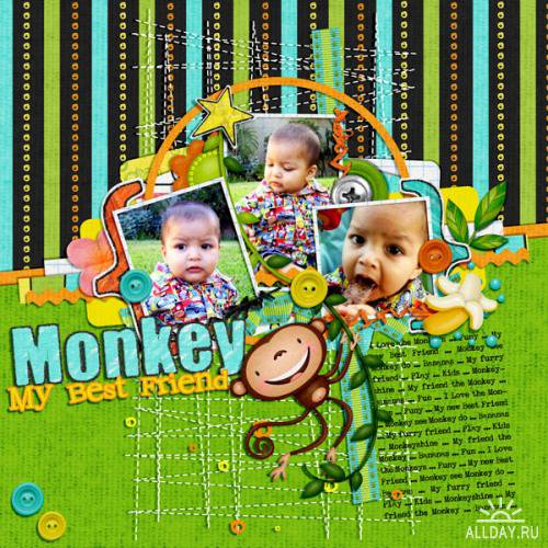 Скрап-набор - My Friend the Monkey