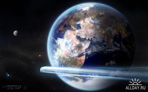 Фантастические обои с видом на космос