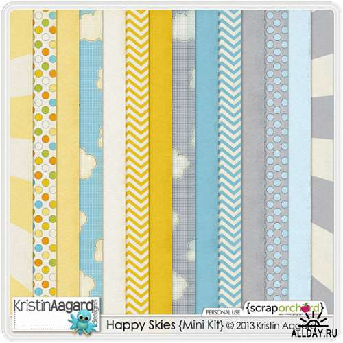 Scrap set - Happy Skies