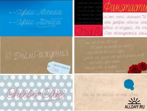 Сборник красивых шрифтов / Fonts pack 12