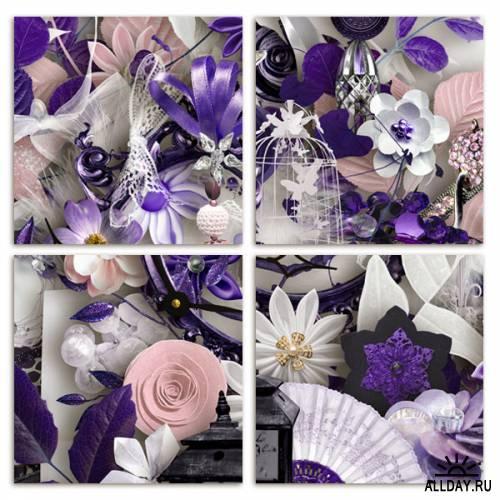 Scrap kit   Midnight flower