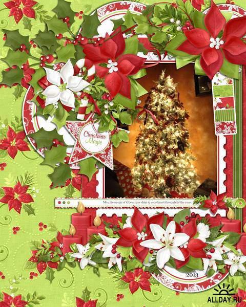 Скрап-набор Christmas Linen