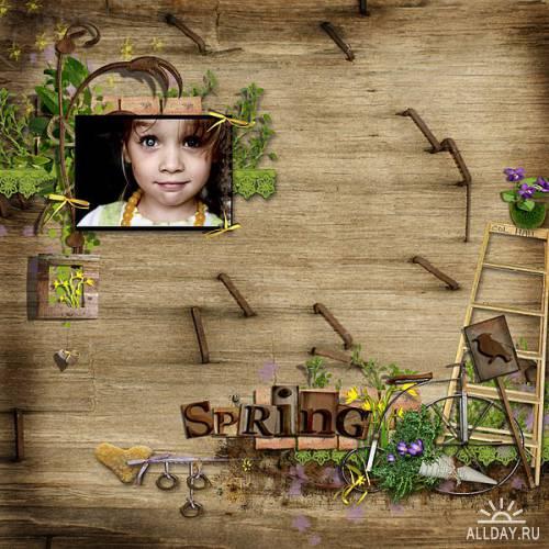 Скрап-набор Spring Garden