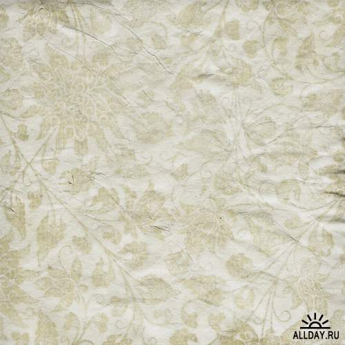 Textures Vintage  Papers  Flowers | Текстуры - винтажная бумага и обои с цветами