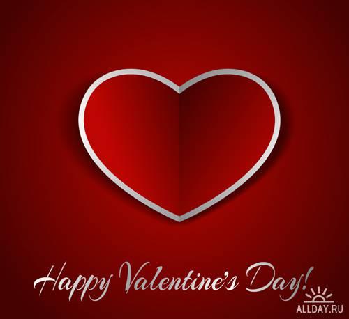Валентинки - Векторный клипарт | Valentine cards - Stock Vectors