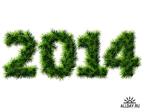 2014 Новый Год #3 - Векторный клипарт | 2014 New Year #3 - Stock Vectors