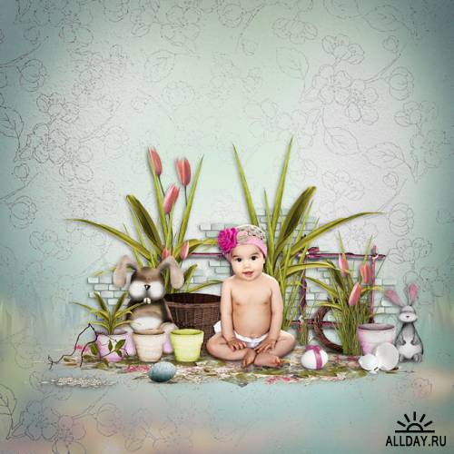 Скрап-набор Easter Bunnies by MK-Designs