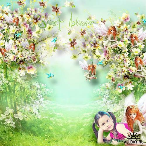 Скрап набор- Under the dogwood blossoms