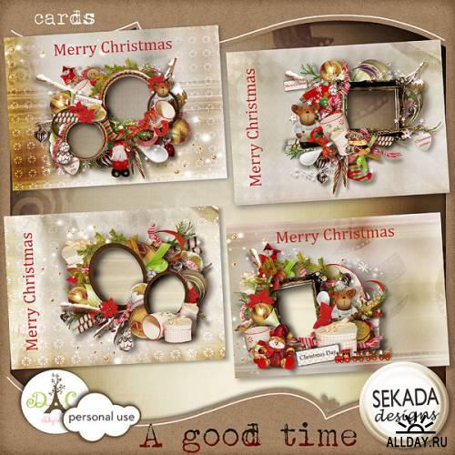 Новогодне-рождественские открытки / A good time - Cards