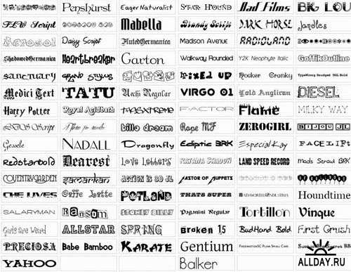 Big Exclusive Collection Popular Fonts