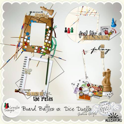 Scrap kit  Board Battles vs. Dice Duells Bundle