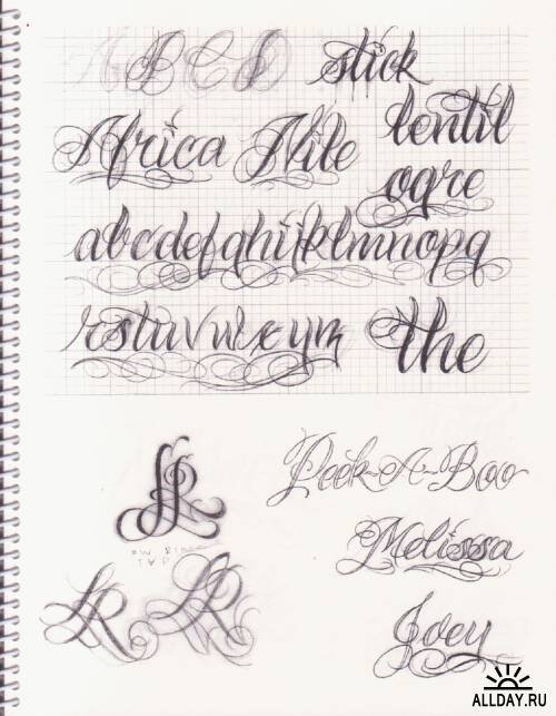 Bj Betts custom lettering guide. Часть 1 и 2