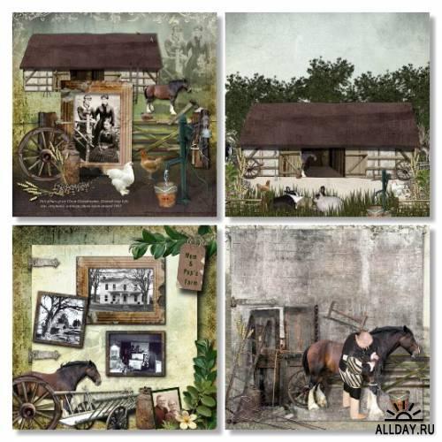Scrap Kit Vintage Farm