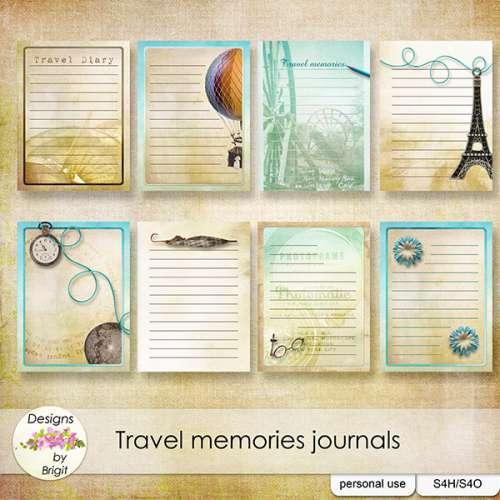 Скрап-набор Travel Memories - Путевые Воспоминания