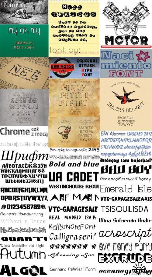 Сборник шрифтов ( часть 12) / Collection of fonts ( Part 12 )