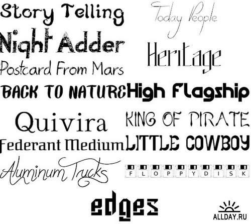 Сборник шрифтов ( часть 13) / Collection of fonts ( Part 13 )