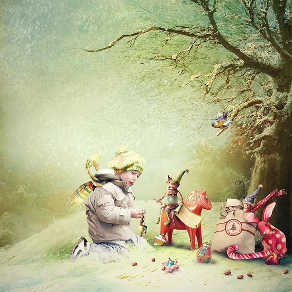 Скрап-набор Maybell Littleberry's Christmas Stocking