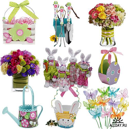 Cкрап-набор – Цветная пасха и весна
