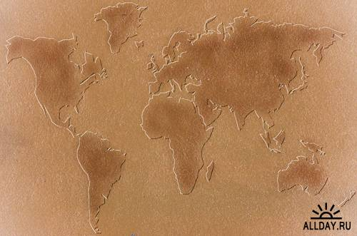 Texture maps of continent
