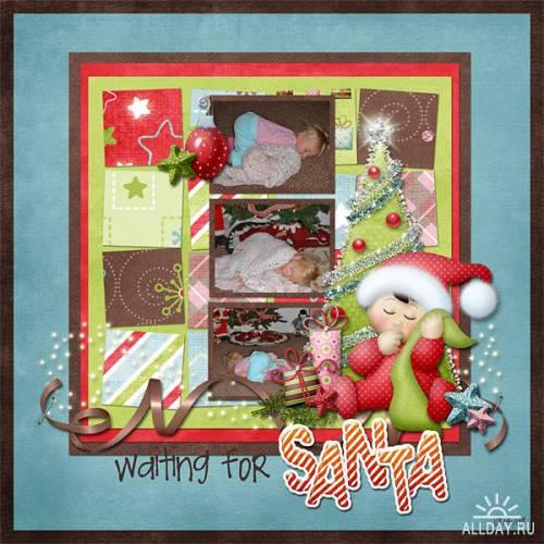 Scrap kit   Waiting For Santa