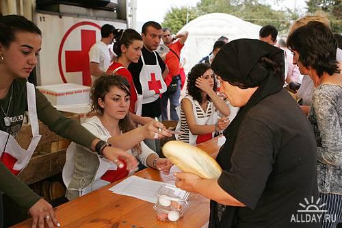 Волонтеры - Red Cross workers and green ecology Volunteers