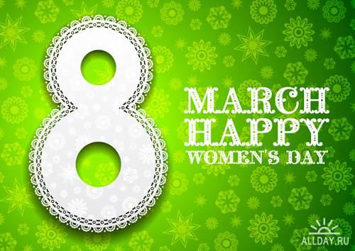 8 Марта - Векторный клипарт | 8 March - Stock Vectors