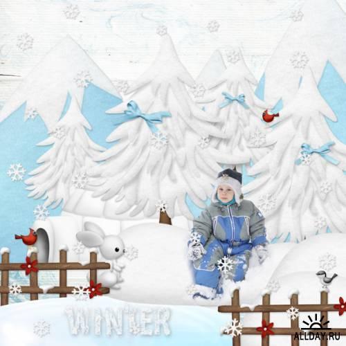 Scrap kit  Little Forest Winter