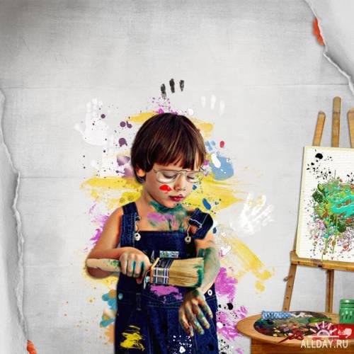 Scrap kit   Painted Scrap