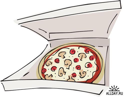 Пицца на прозрачном фоне