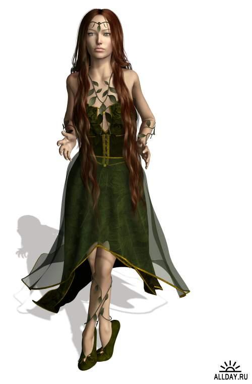 Girls, ladies and fairies | Девушки, дамы и феи