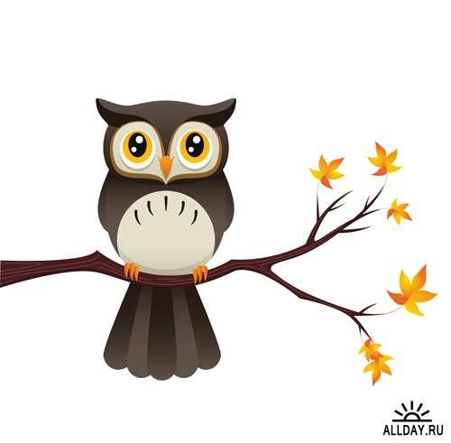 Совы - Векторный клипарт | Owls - Stock Vectors