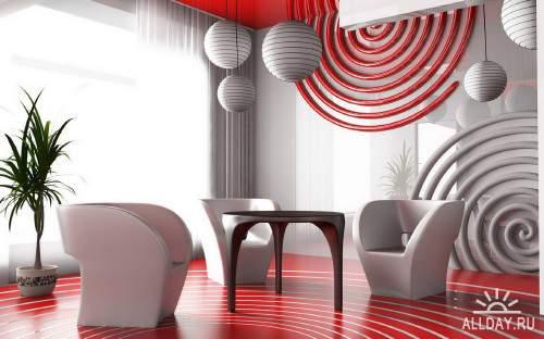 Новые идеи дизайна помещений разного типа в коллекции качественных обоев
