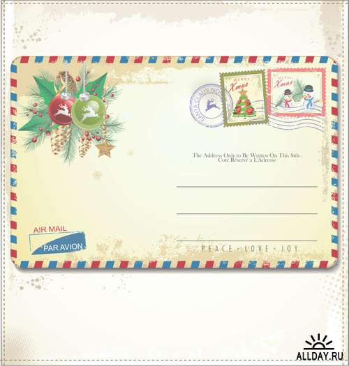 Новогодние открытки 2 - Векторный клипарт | Xmas card 2 - Stock Vectors