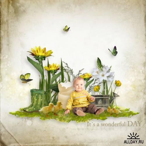 Скрап-набор A spring morning