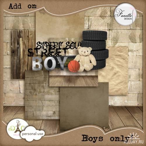 Скрап-набор Boys only! (Только для мальчиков)