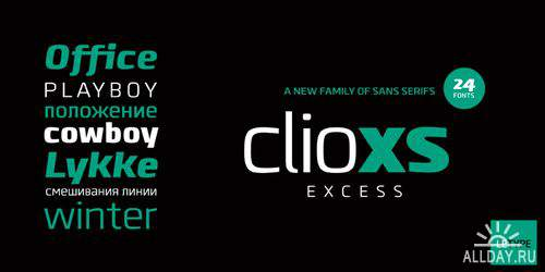 Clio XS Font Family
