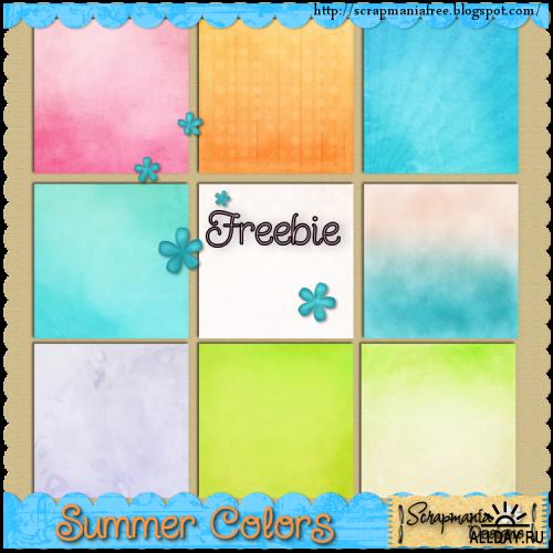 Скрап-набор Summer Colors (Краски лета)