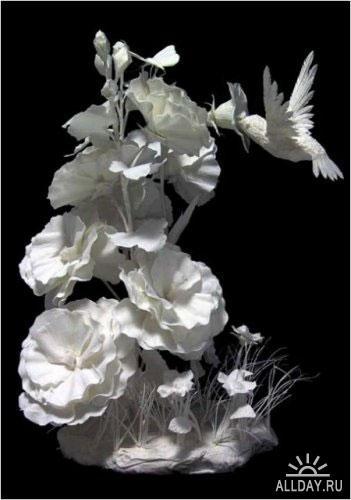 Бумажные скульптуры Аллена и Пэтти Экман