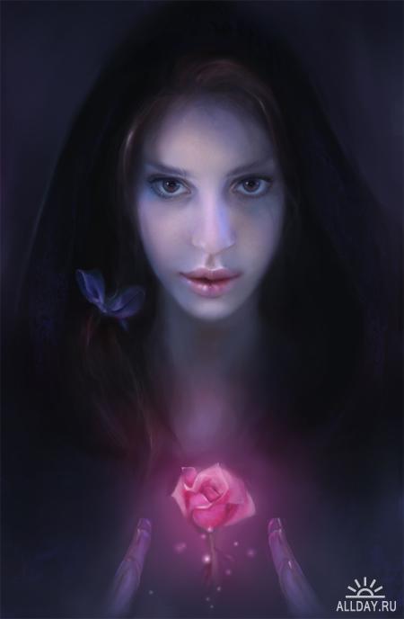Цифровая живопись Claire Lena McKinley