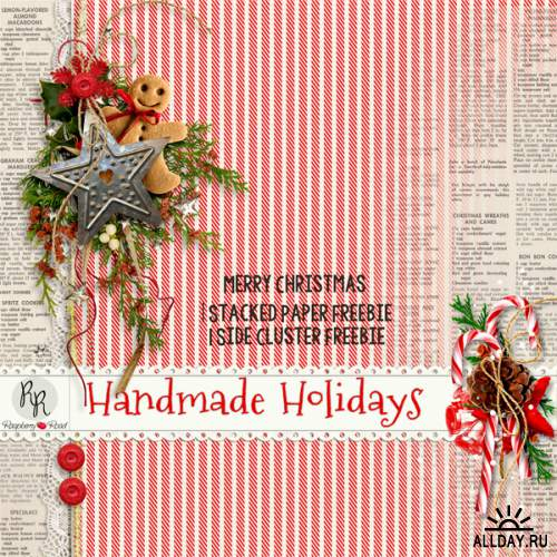 Скрап-набор Handmade Holidays + 6 Clusters