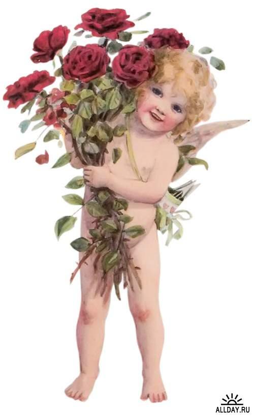 Мальчик-Купидон - купидоны, амуры и херувимы на прозрачном фоне