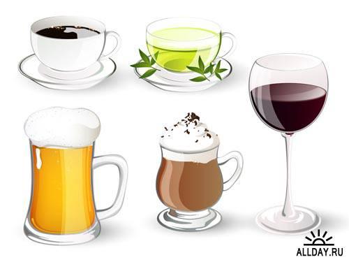 Напитки. Микс #1 - Векторный клипарт