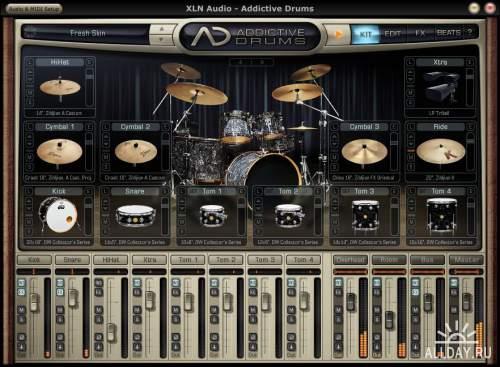 XLN Audio - Addictive Drums Black Velvet ADpak by R2R [XPACK, presets] [En]
