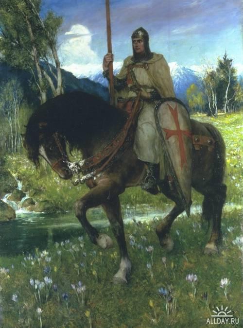 Немецкий художник Ferdinand Leeke (1859-1925)