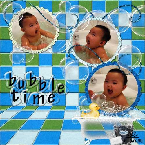 Скрап-набор - Bubble Bath