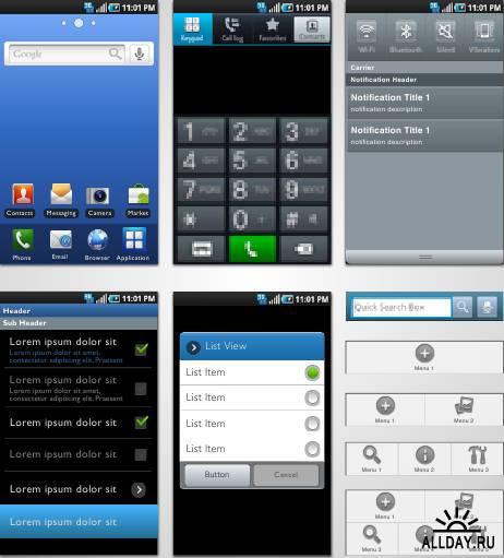 Графический набор из иконок для Андроида