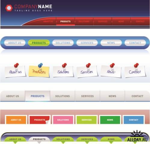 Сборник векторных веб элементов