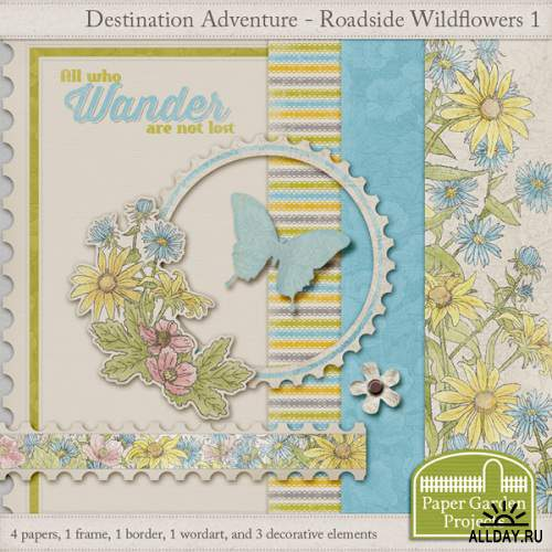 Скрап-набор - Roadside Wildflowers