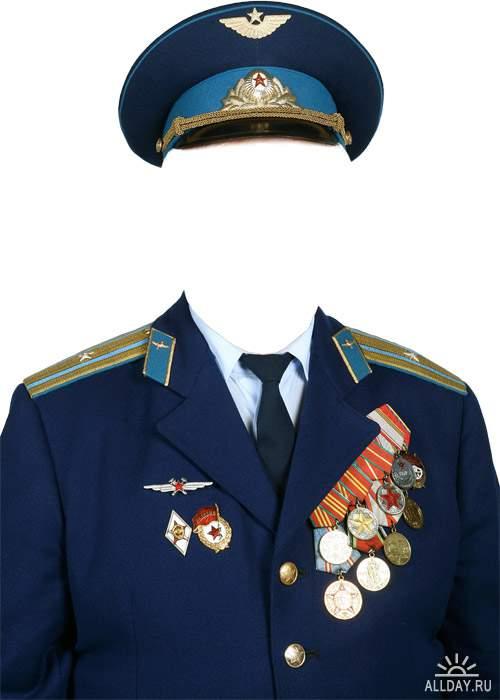 Мужская военная и служебная форма для фотомонтажа